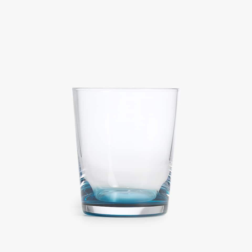 TURQUOISE GLASS TUMBLER