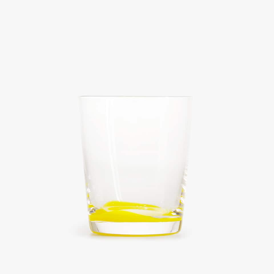 YELLOW GLASS TUMBLER