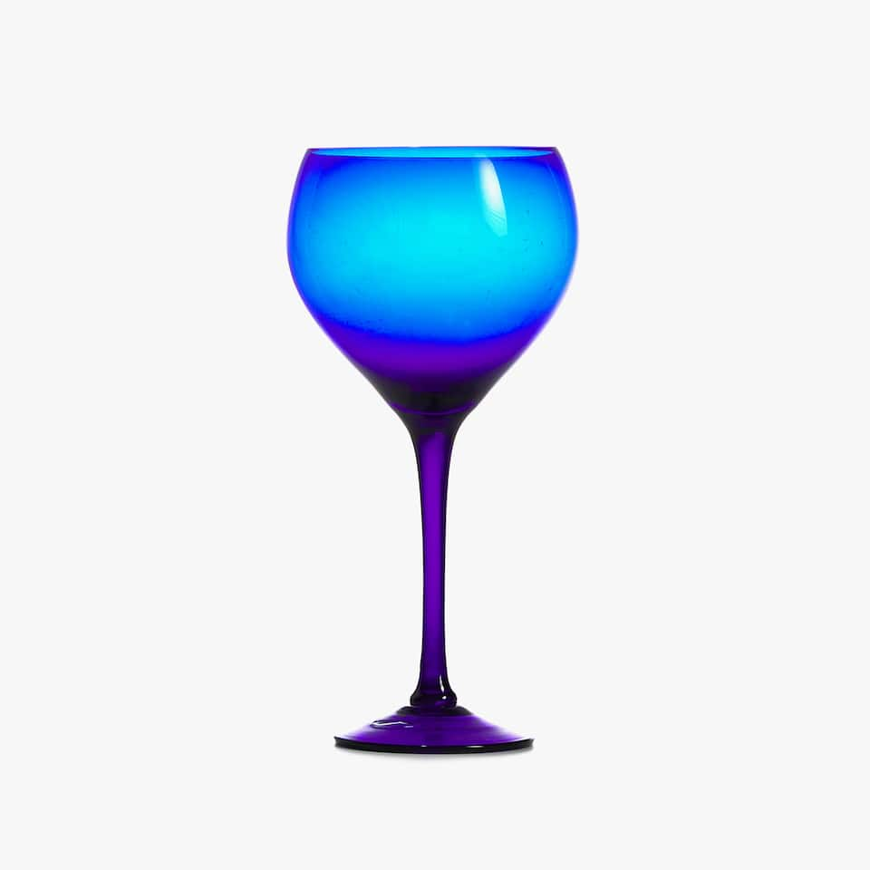 BLUE GLASS WINE GLASS