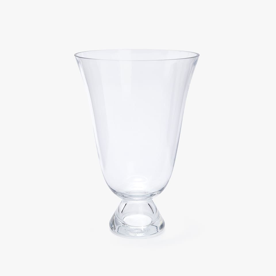 GOBLET GLASS VASE