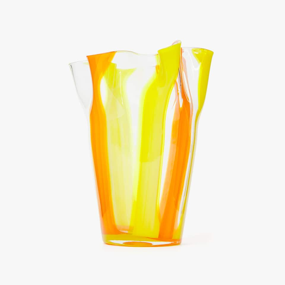 VASE VERRE TONS ORANGE