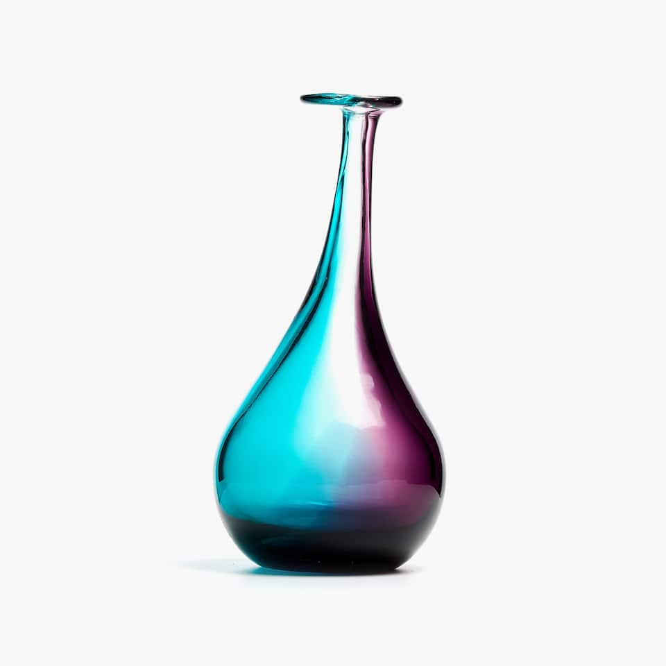 COLOURED BOTTLE-SHAPED VASE