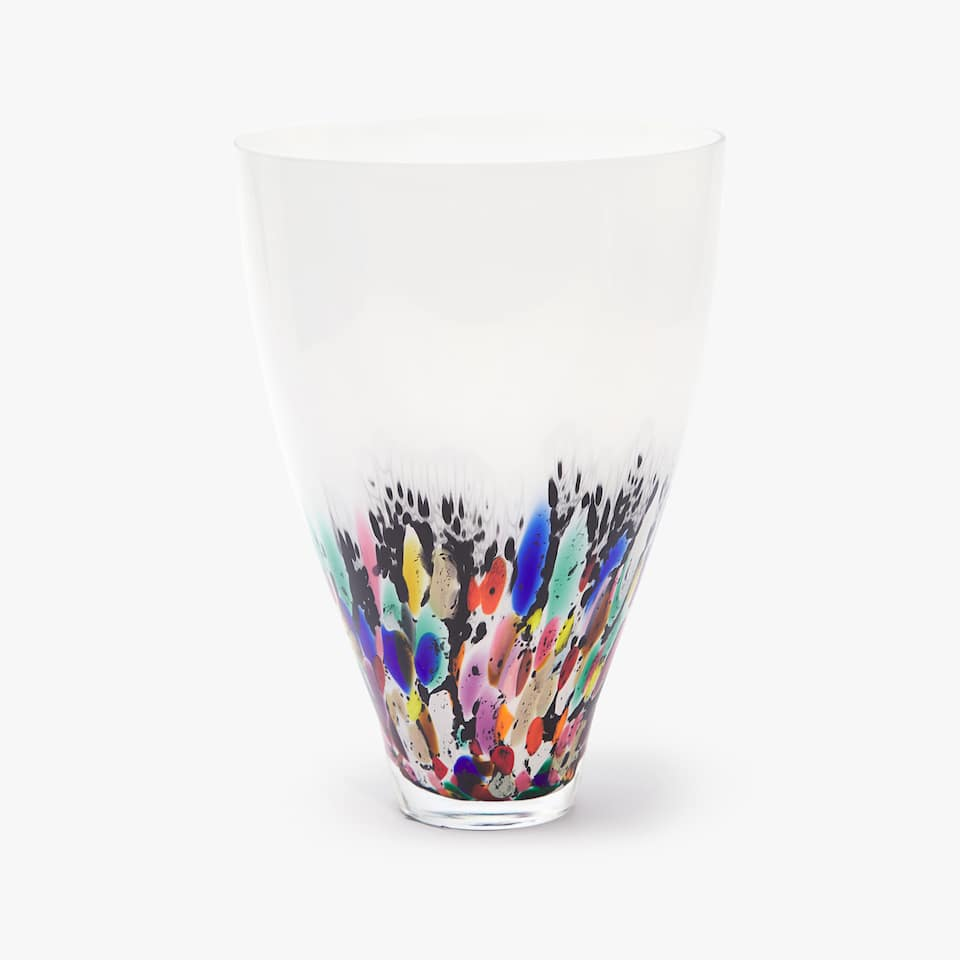 MULTICOLORED GLASS VASE