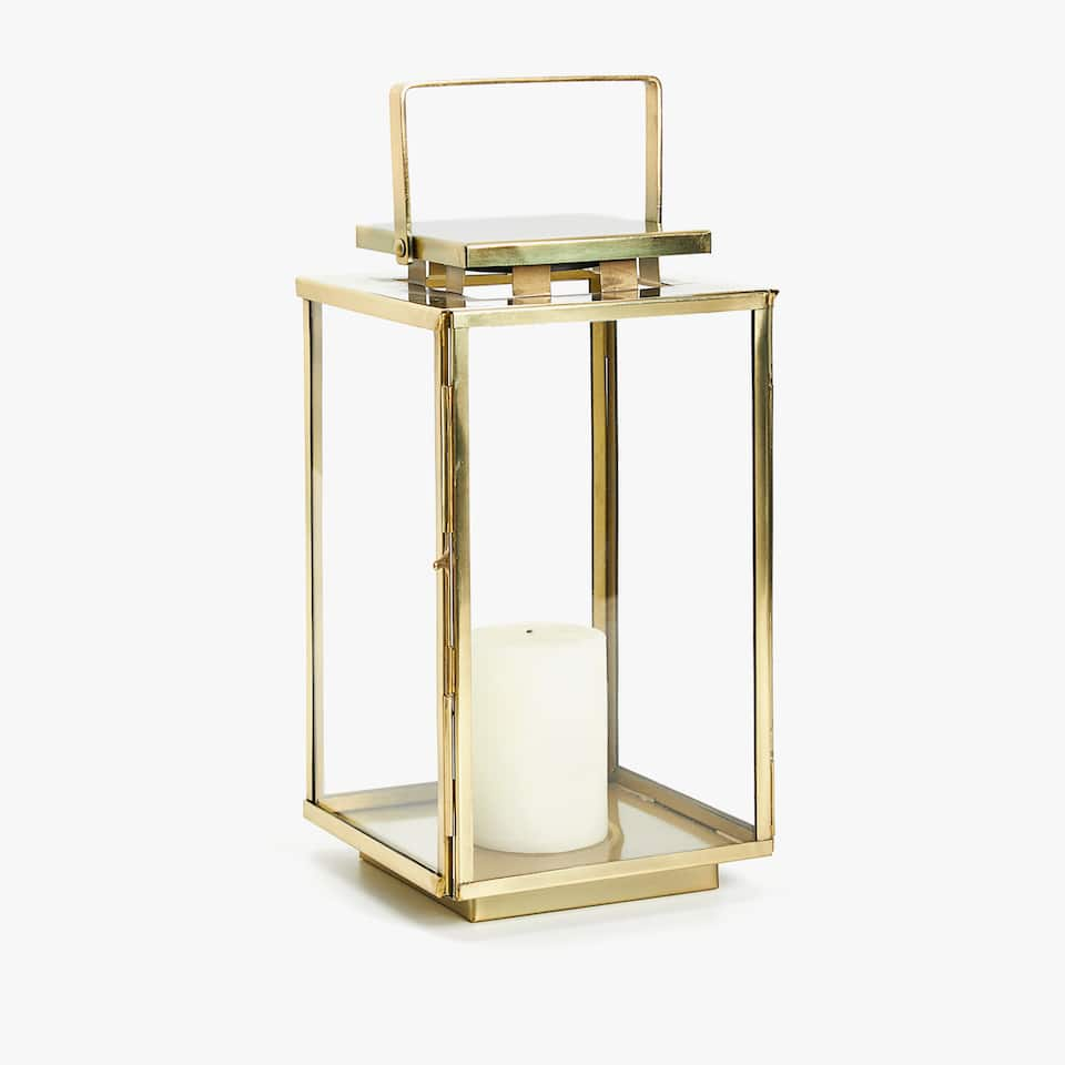 Lantern with golden outline