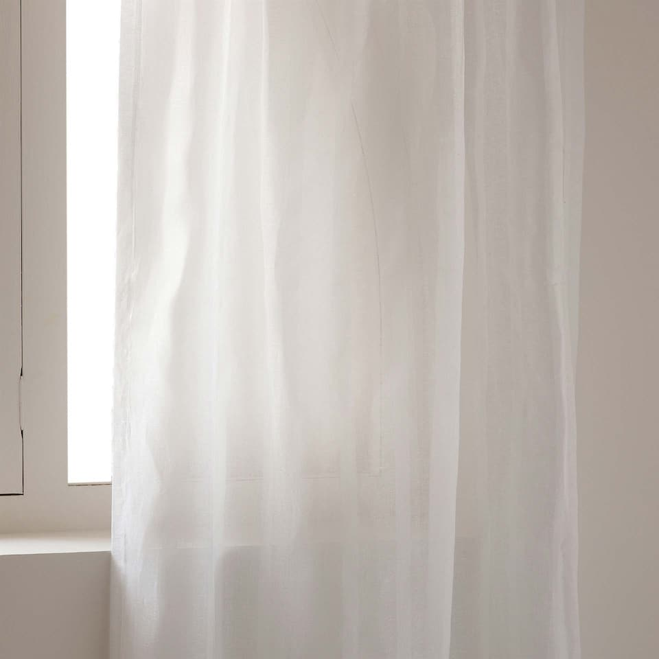STRIPED LINEN JACQUARD CURTAIN