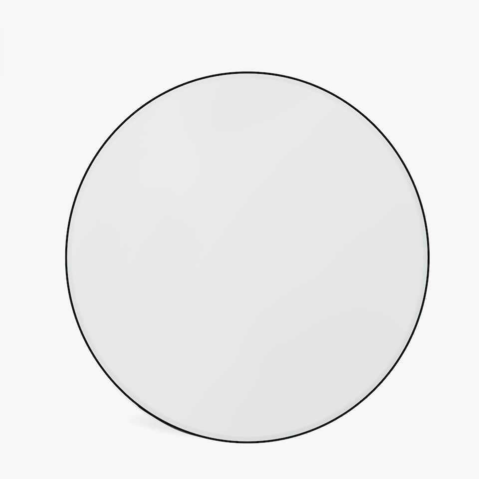 ROUND MIRROR WITH BLACK FRAME<br/>