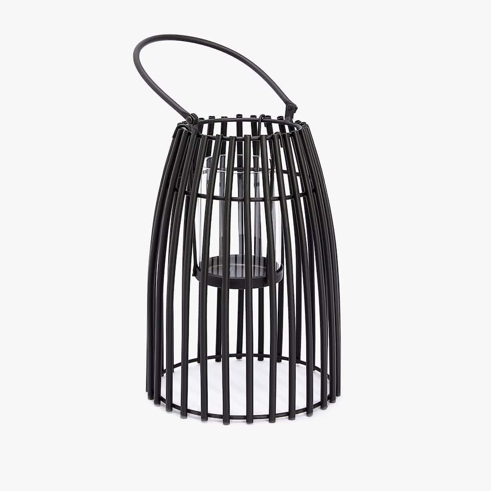 Lantern with black spokes
