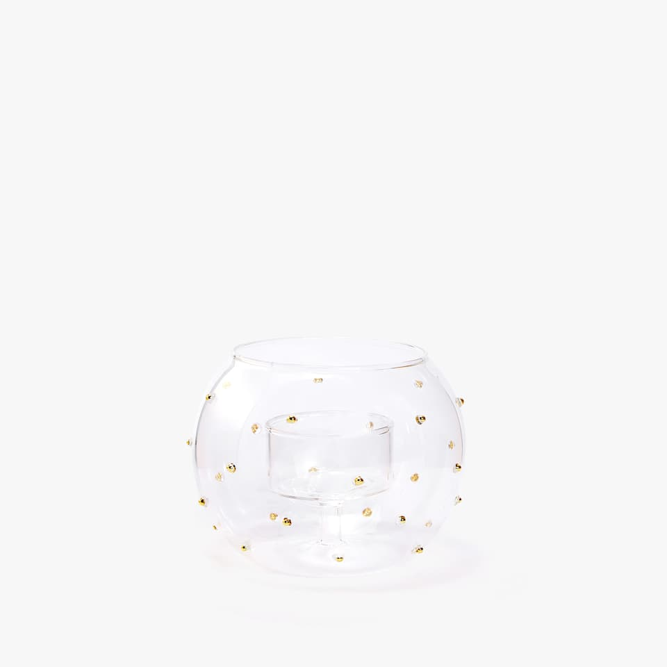 Golden dots candleholder