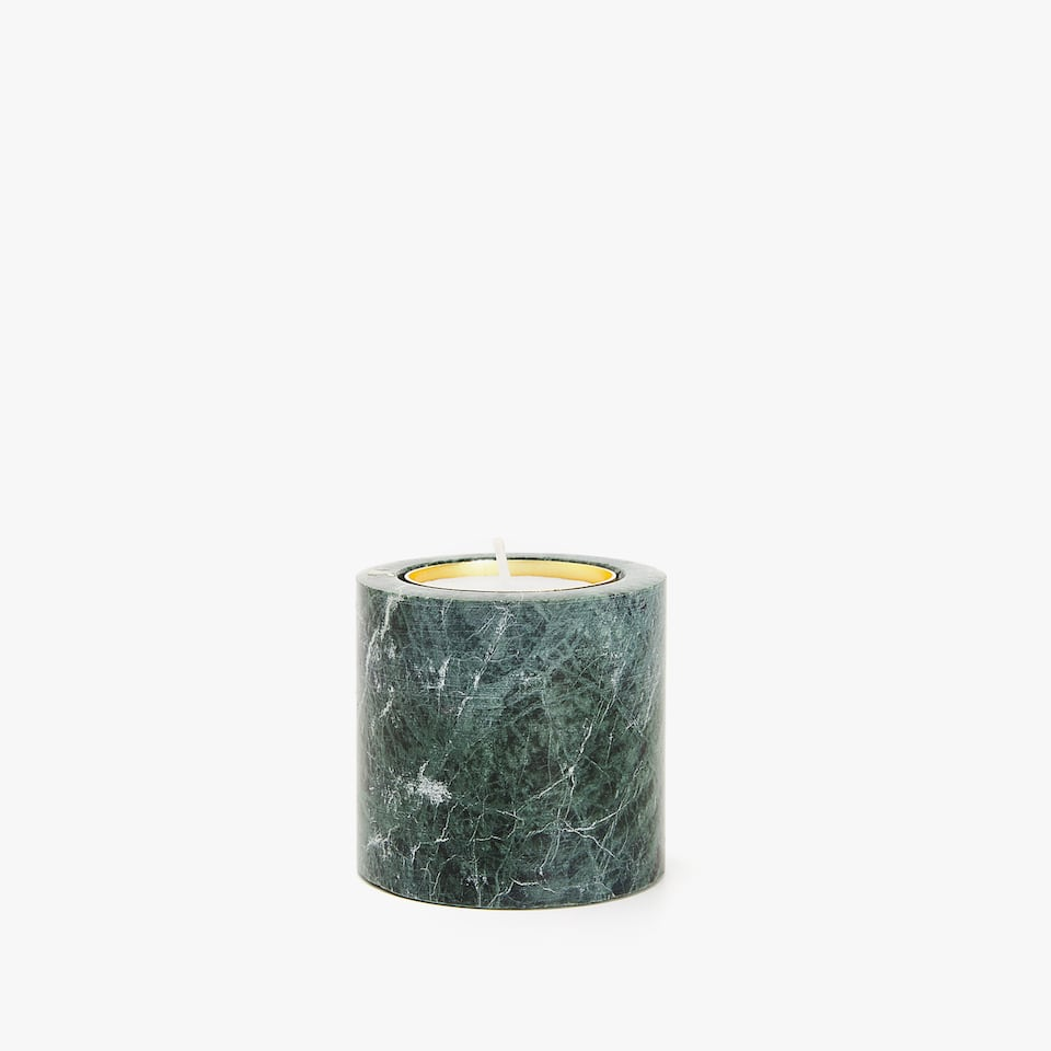 Green marble tealight holder