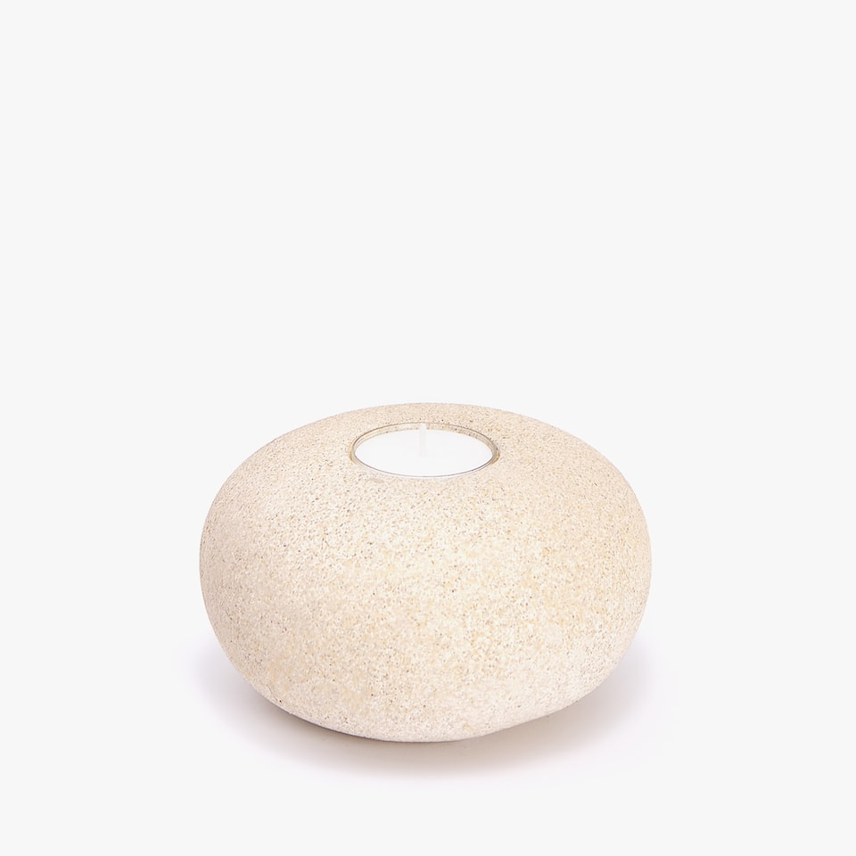 Rounded tealight holder