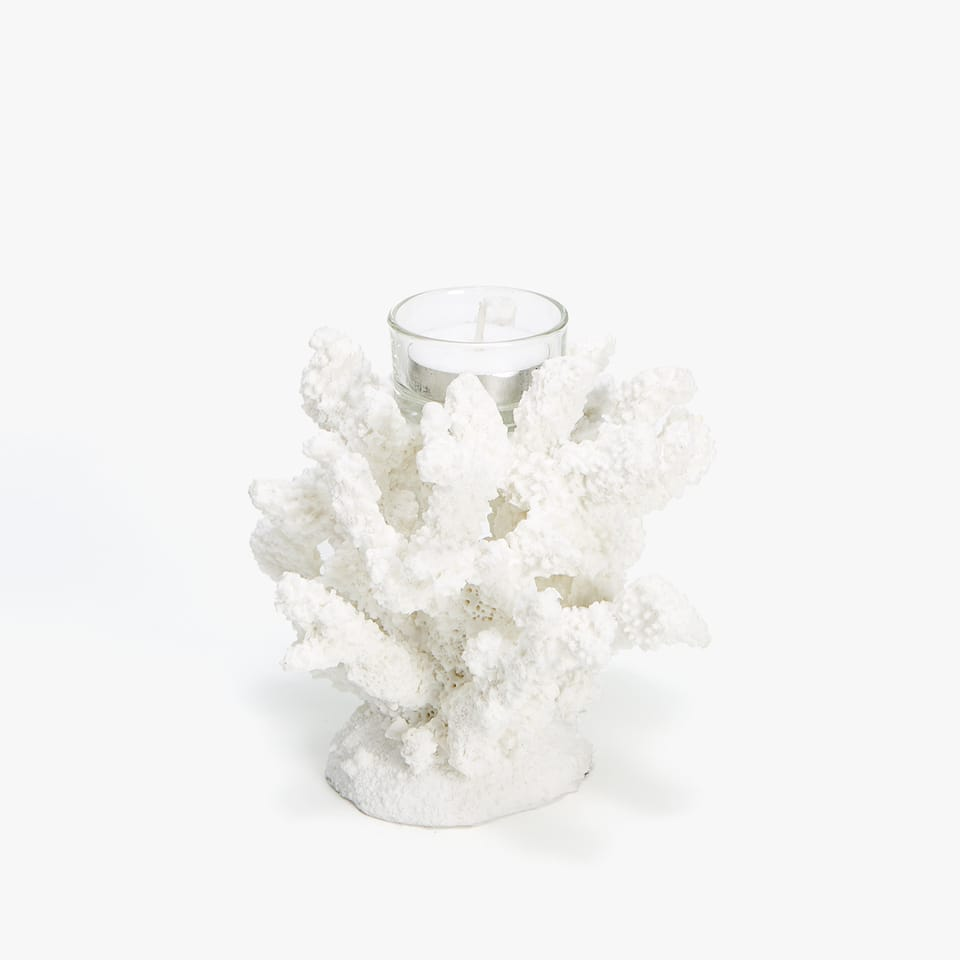 Coral tealight holder