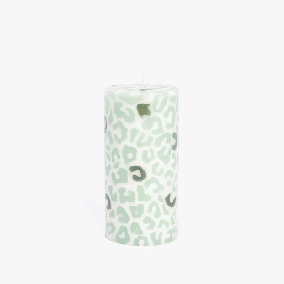 ANIMAL DESIGN CYLINDRICAL CANDLE