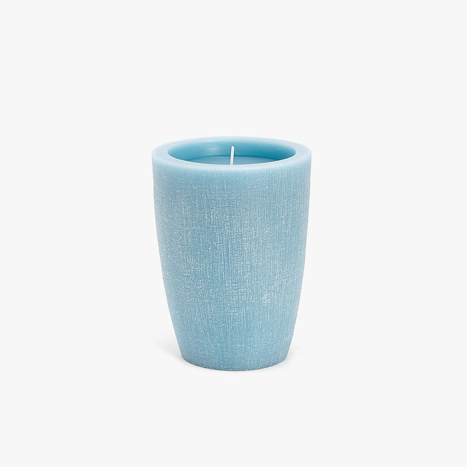LARGE WAX CANDLE HOLDER