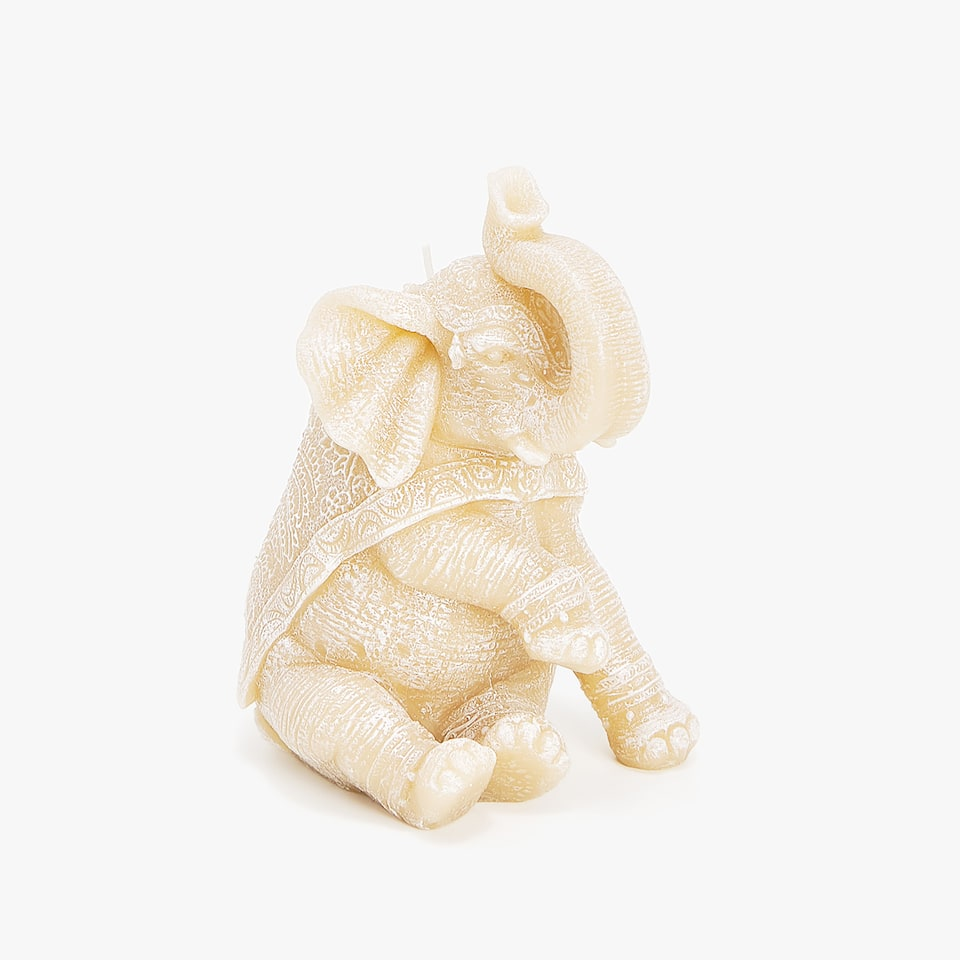 SEATED ELEPHANT-SHAPED CANDLE