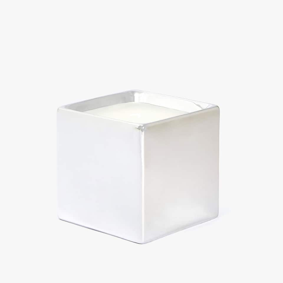 SILVER SQUARE CANDLE HOLDER