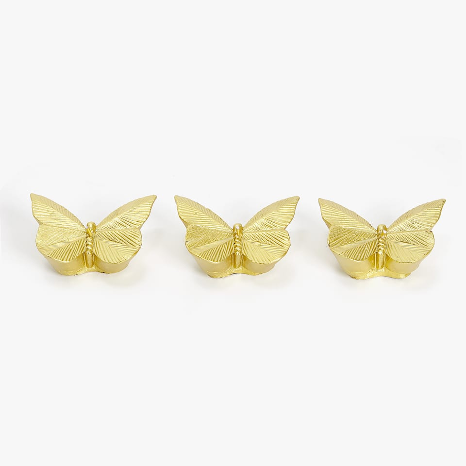 BOUGIE FORME PAPILLON (LOT DE 3)