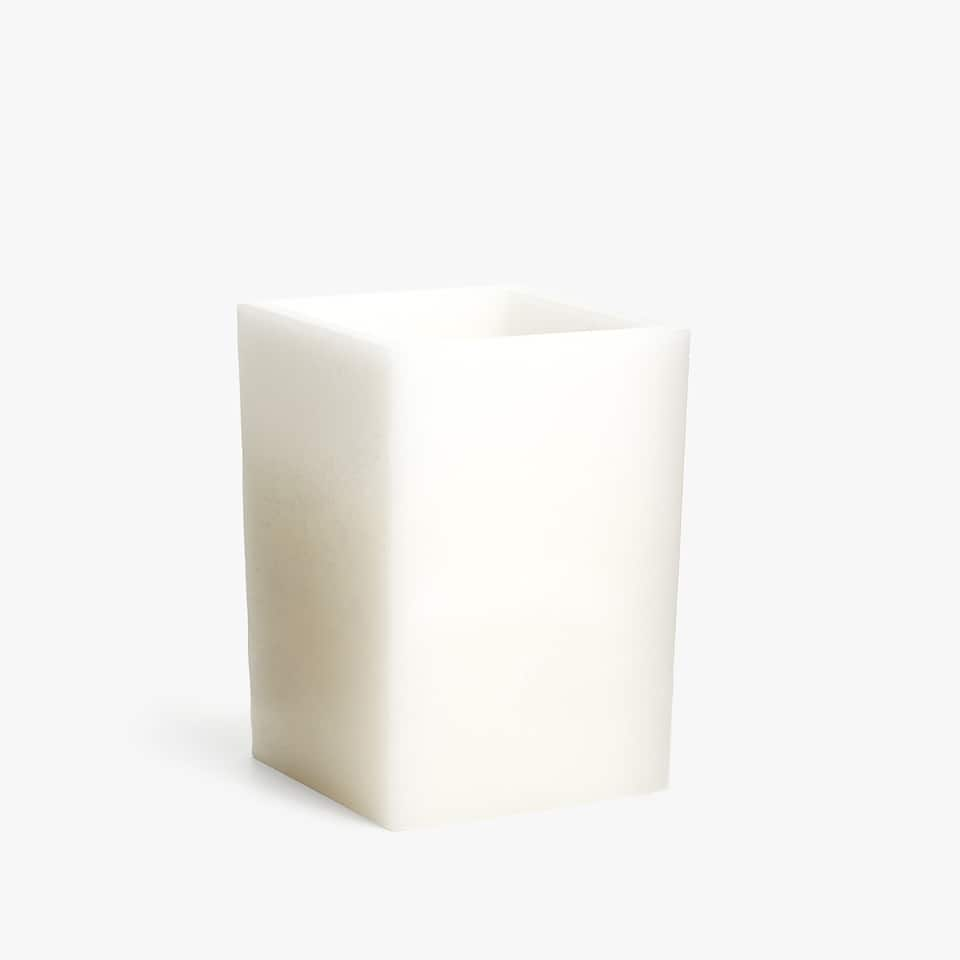 SQUARE WAX CANDLE HOLDER