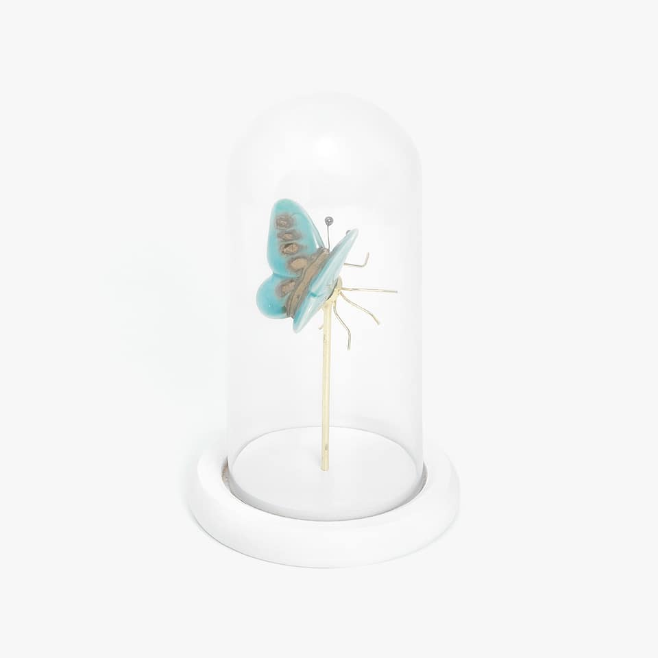 DECORATIVE BUTTERFLY VASE