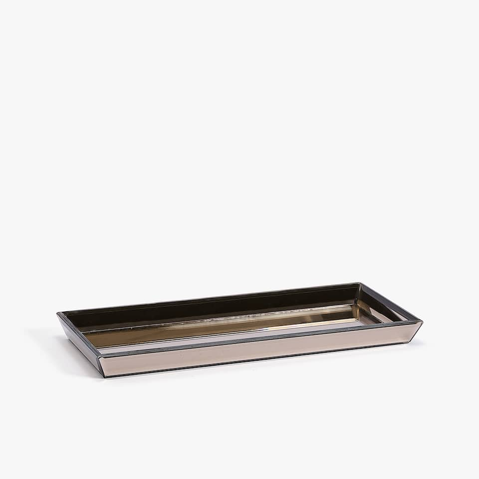 DECORATIVE MIRRORED RECTANGULAR TRAY