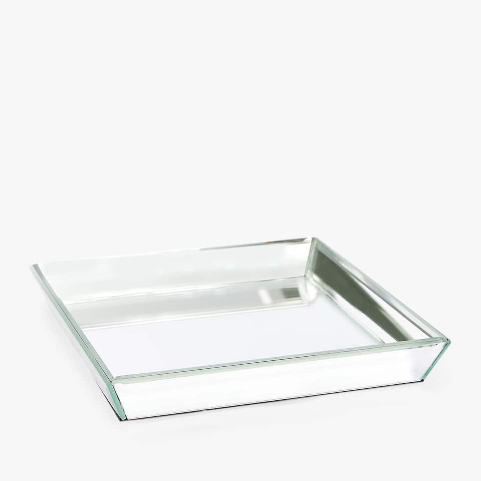 DECORATIVE MIRRORED SQUARE TRAY