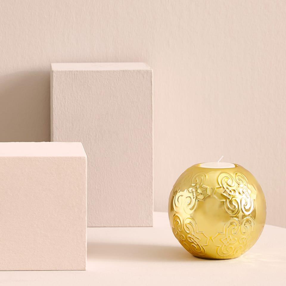 Portavelas dorado