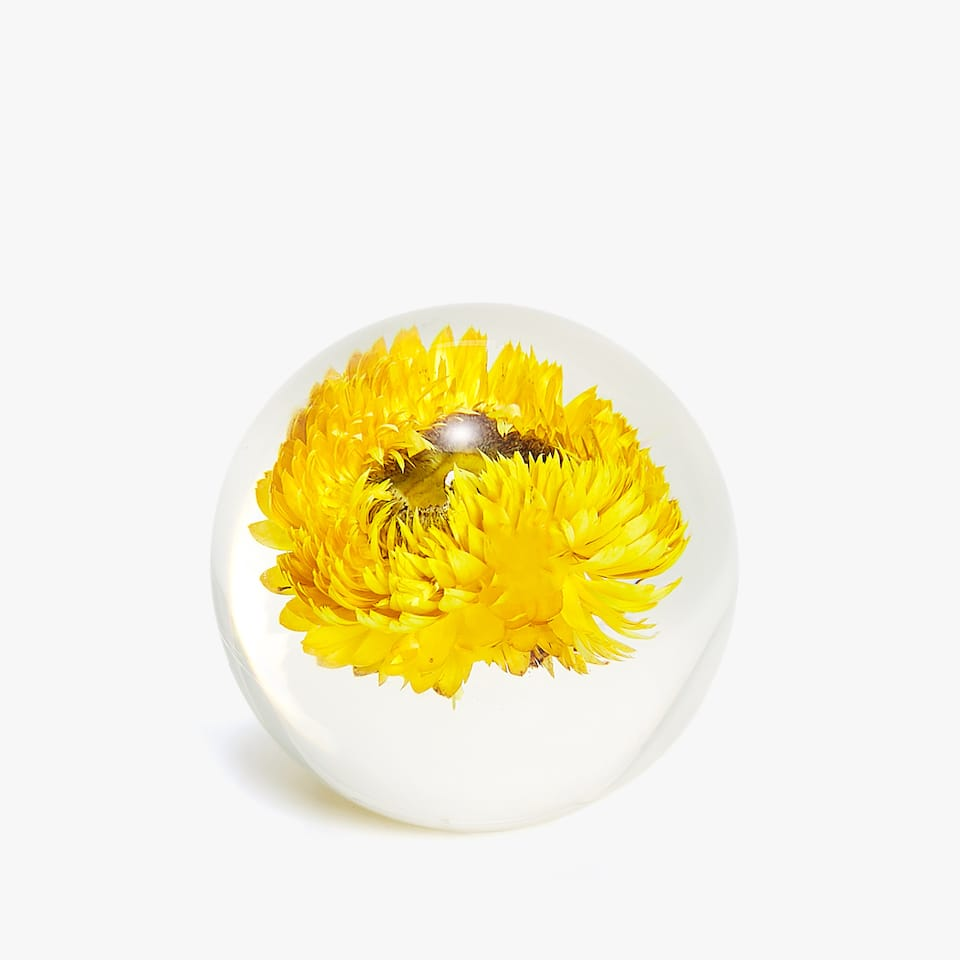FLOWER PAPERWEIGHT