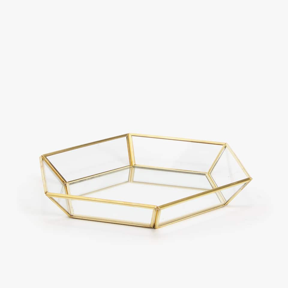 DECORATIVE HEXAGONAL TRAY