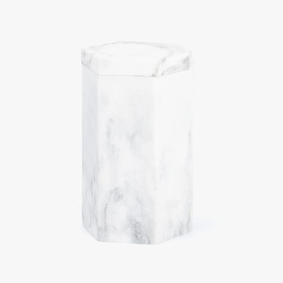 MARBLE-EFFECT RESIN JAR