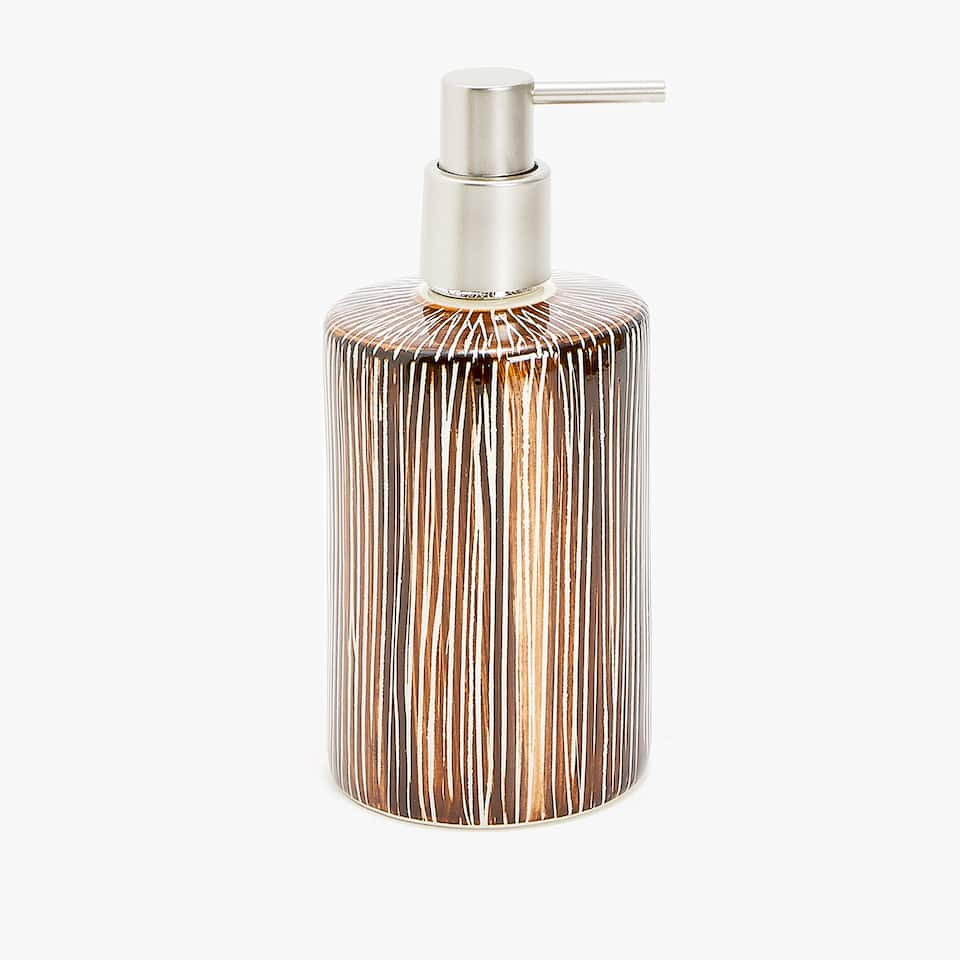 SCORED CERAMIC SOAP DISPENSER