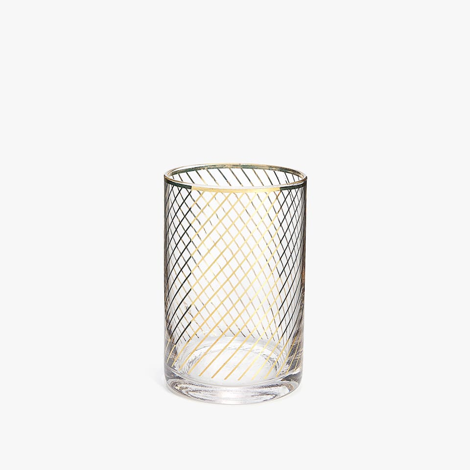 GOLD GLASS TUMBLER