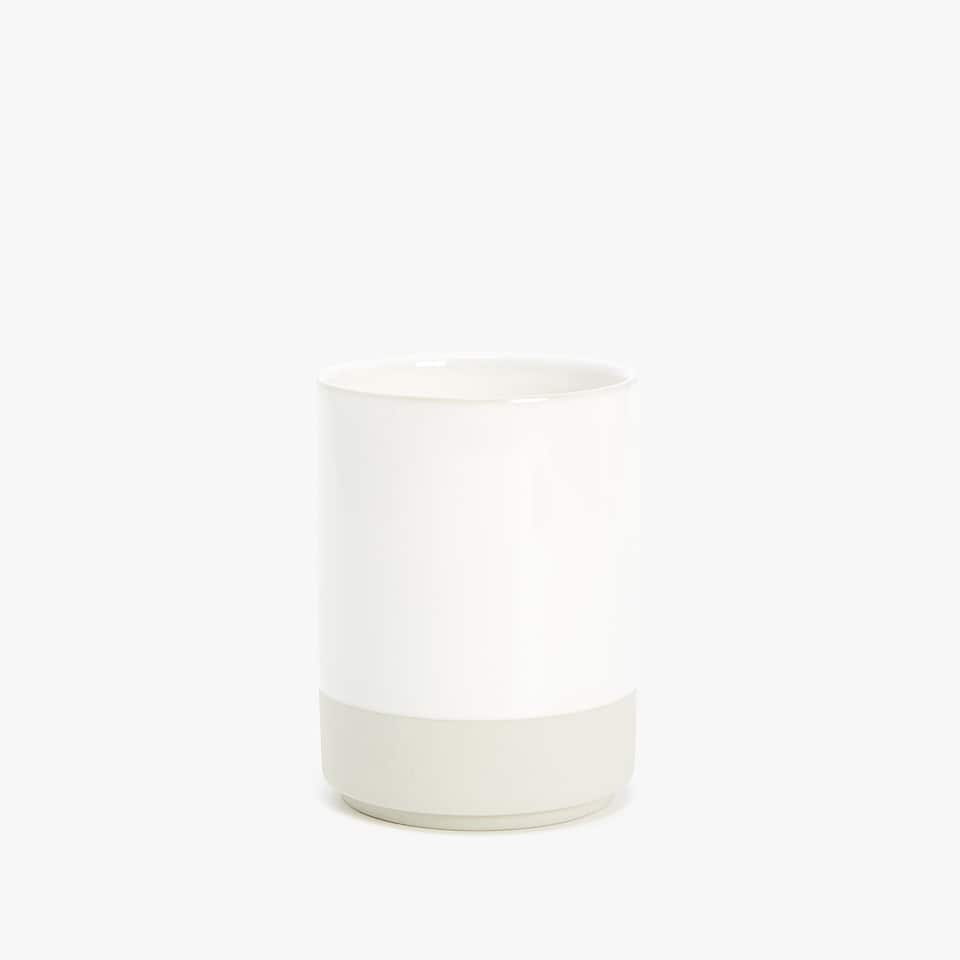 CERAMIC TUMBLER WITH STRIPE