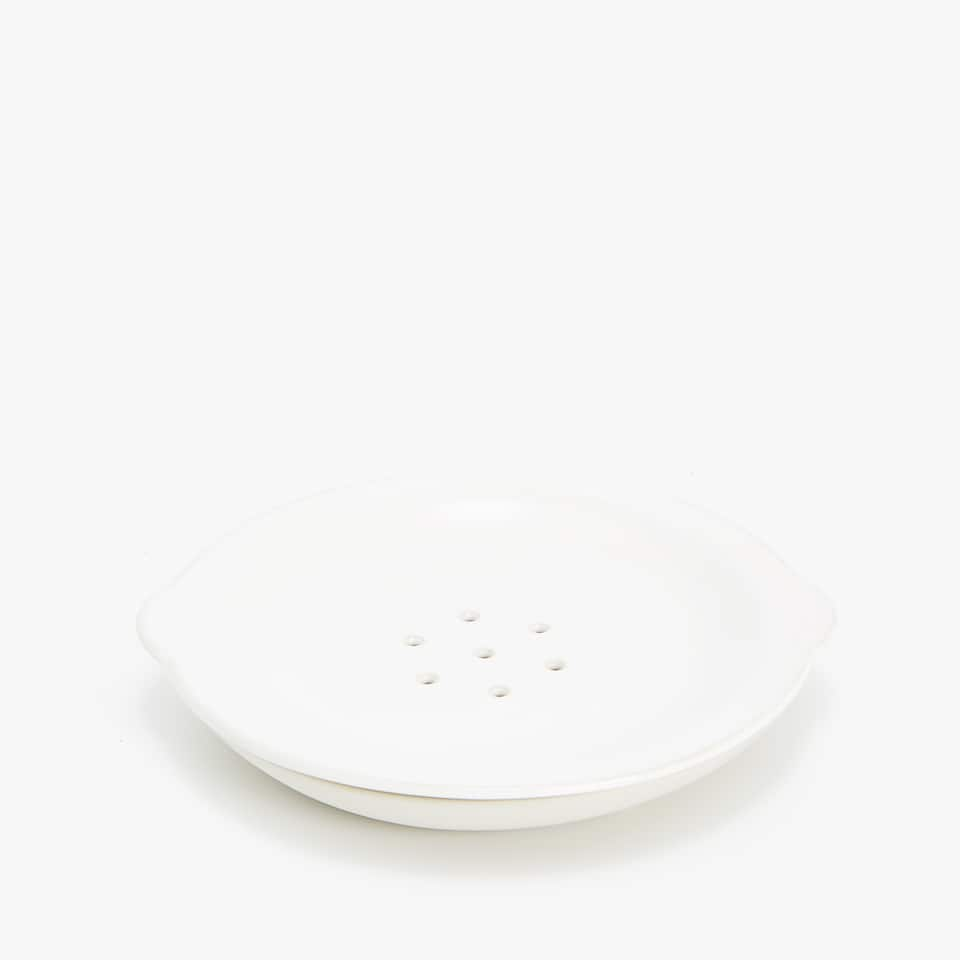 CERAMIC SOAP DISH WITH STRIPE