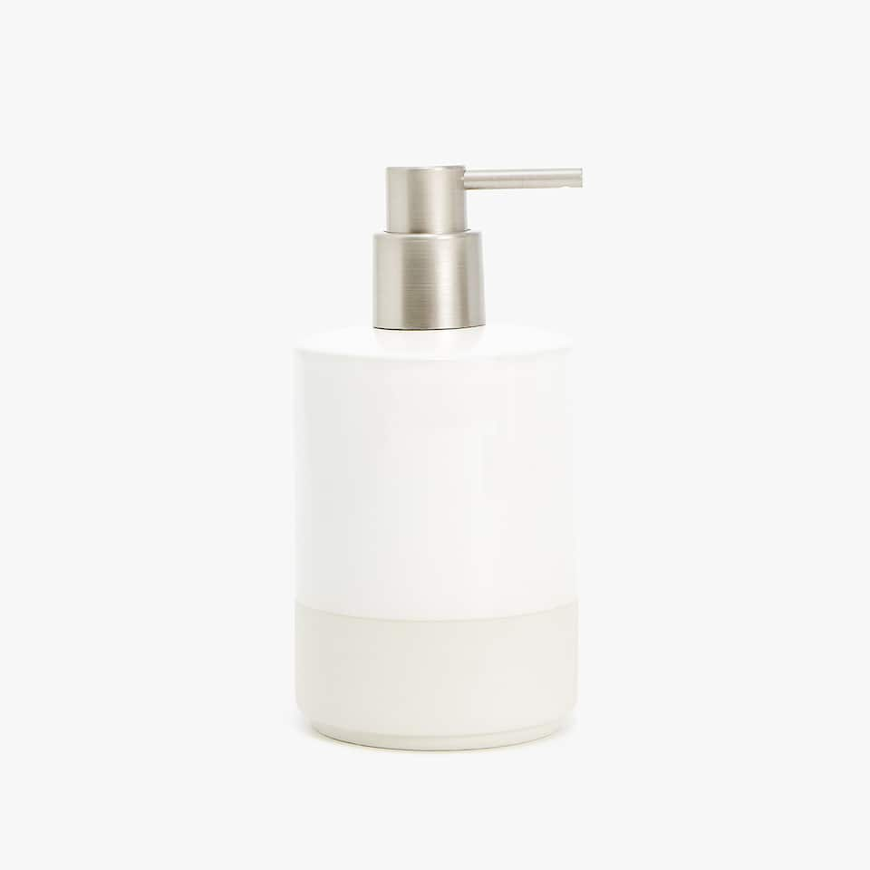 CERAMIC SOAP DISPENSER WITH STRIPE