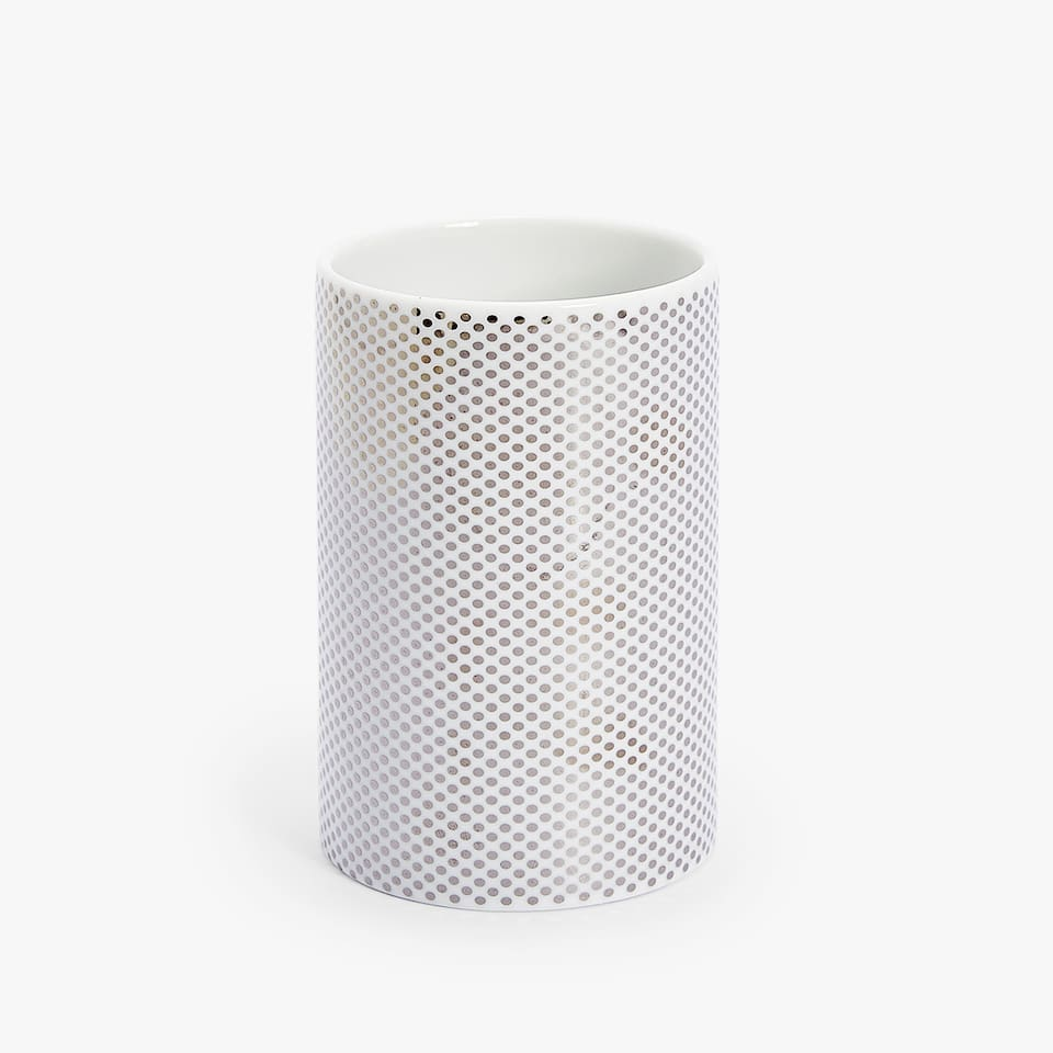 DOTTED CERAMIC TUMBLER