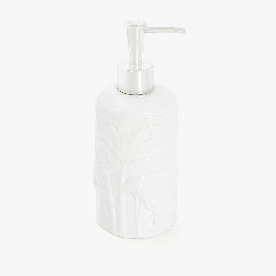 RAISED LEAVES CERAMIC DISPENSER