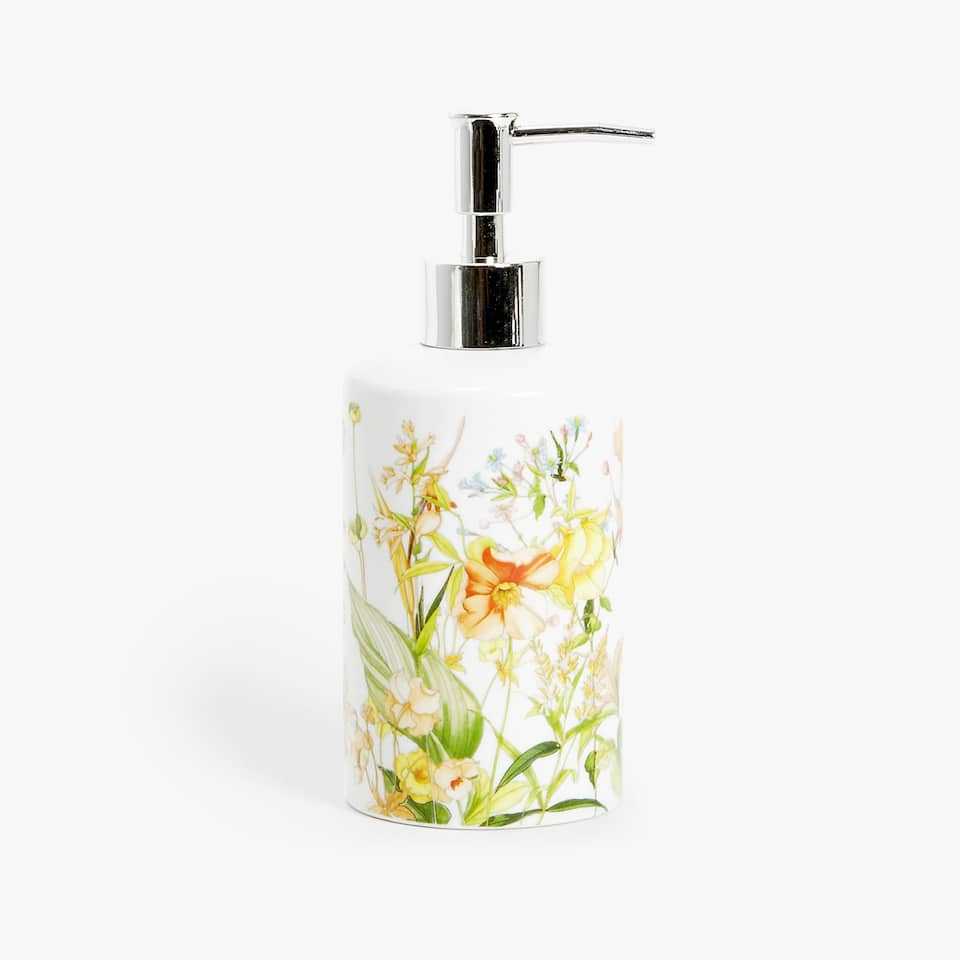 FLORAL CERAMIC DISPENSER