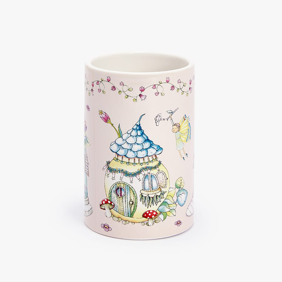 FAIRIES PATTERN CERAMIC TUMBLER