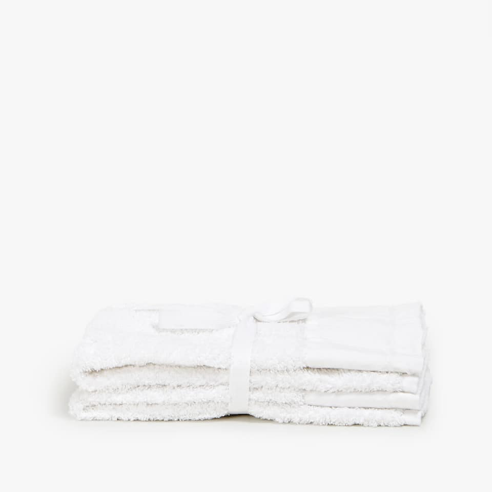 TOWEL WITH LINEN BORDER (SET OF 2)