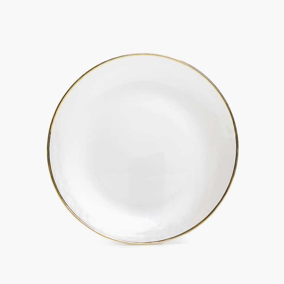 GOLD-RIMMED GLASS CHARGER PLATE