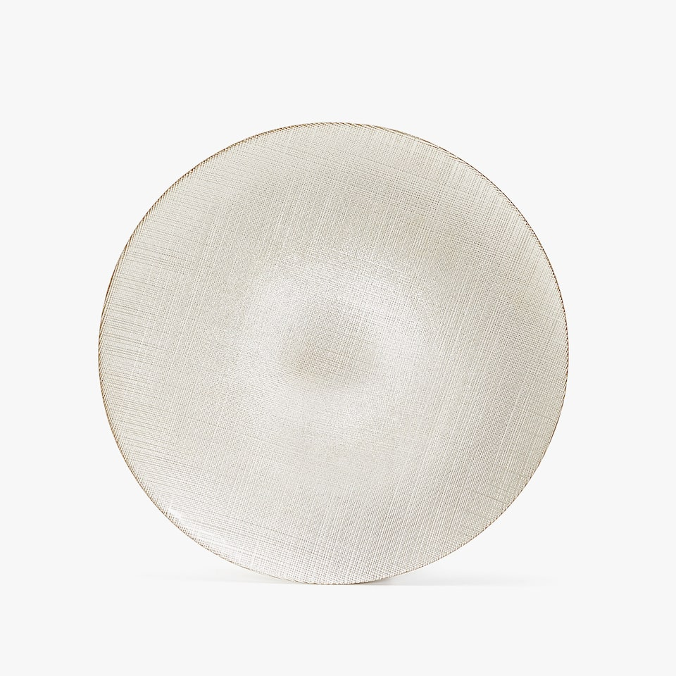 TEXTURED GLASS CHARGER PLATE