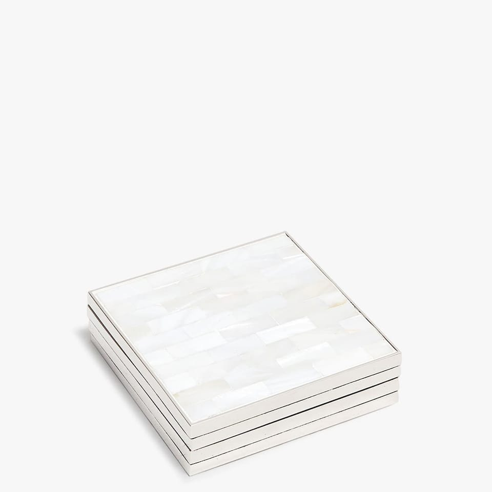 MOTHER-OF-PEARL FINISH COASTER