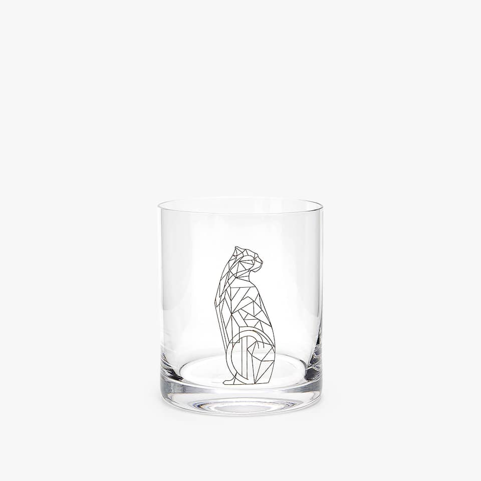SILVER PANTHER WHISKEY TUMBLER