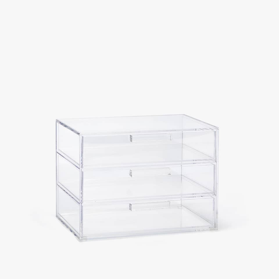 METHACRYLATE BOX WITH DRAWERS