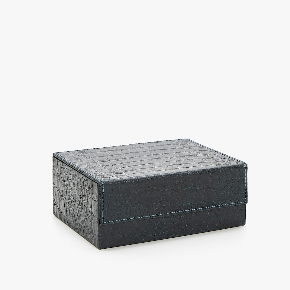 EMBOSSED LEATHER BOX