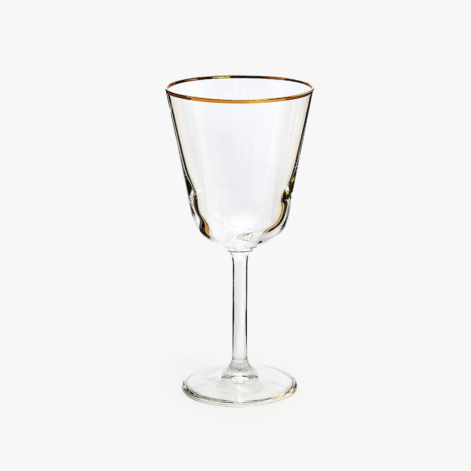 WINE GLASS WITH RIM