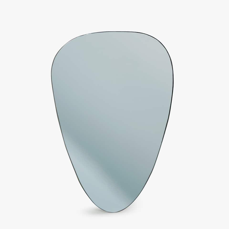 BLUEISH OVAL MIRROR