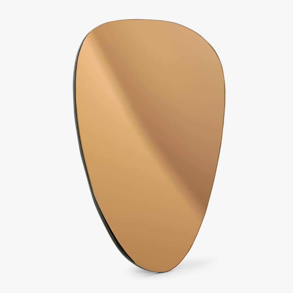 COPPERY OVAL MIRROR