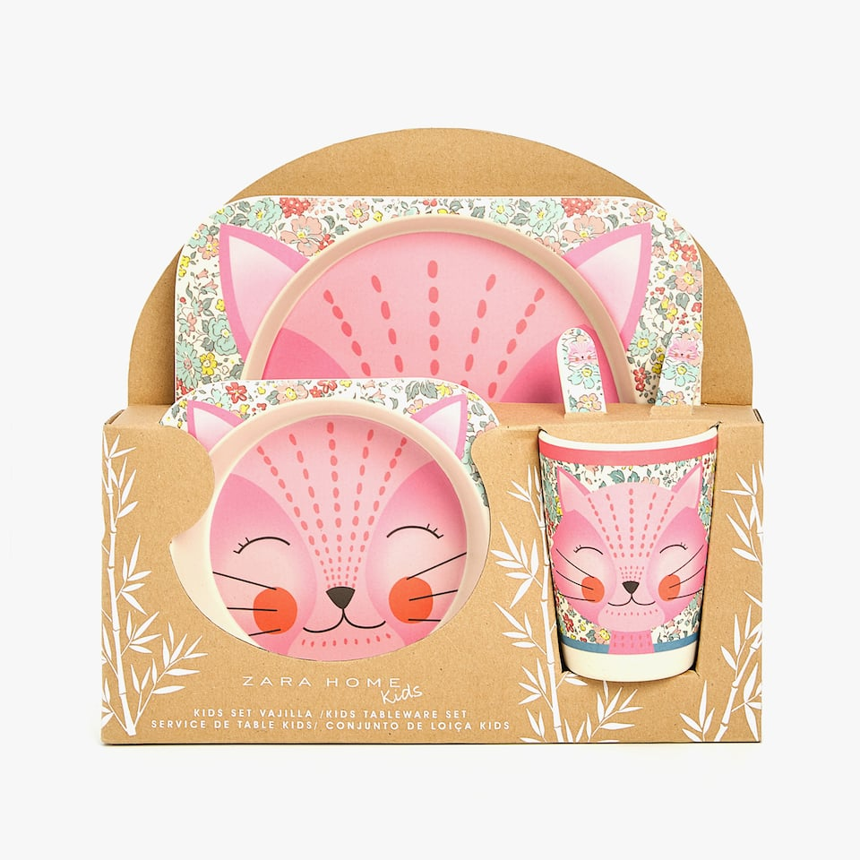 KITTEN MELAMINE TABLEWARE SET