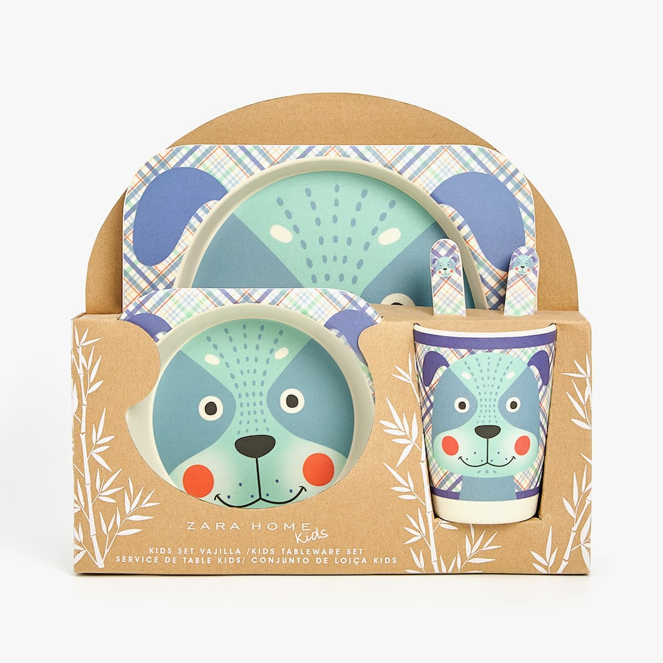 PUPPY MELAMINE TABLEWARE SET