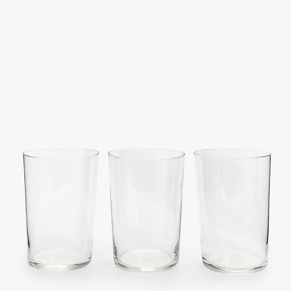 VASO REFRESCO VIDRIO (SET DE 3)